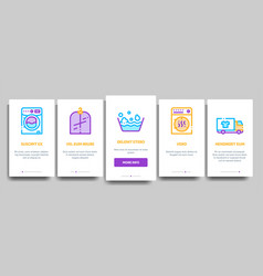 laundry service onboarding vector image