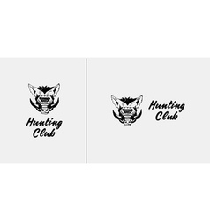 Logo symbol sign stencil boar headUnique technique vector image