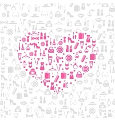 Love shopping seamless background vector