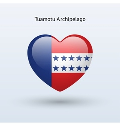 Love Tuamotu Archipelago symbol Heart flag icon vector