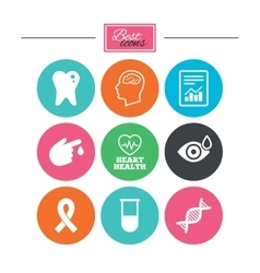 Medicine medical health and diagnosis icons vector image