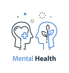 mental health human head psychological help vector image