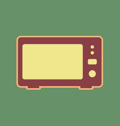 Microwave sign cordovan icon vector