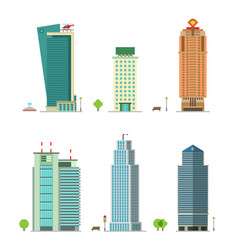 modern city building retro constructions gaming vector image