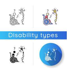 Multiple sclerosis icon vector