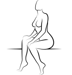 nude woman vector image