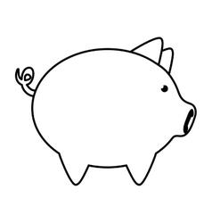 Piggy icon Money and Financial item design vector