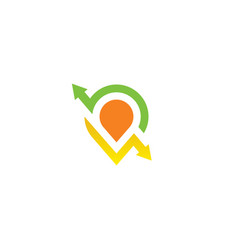 Pin location arrow business logo vector