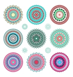 Round mandala ornaments vector