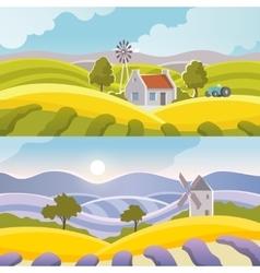 Rural Landscape Banner vector image vector image