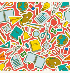 School seamless pattern vector