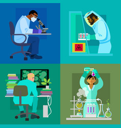 science design concept set vector image