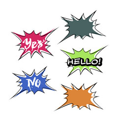 Set of bright colorful blank speech bubbles vector