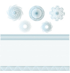 set watermarks and borders guilloche pattern vector image