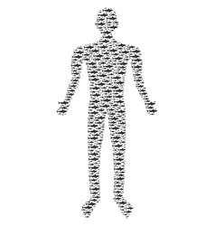 shark human figure vector image