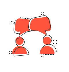 Speak chat sign icon in comic style bubble dialog vector