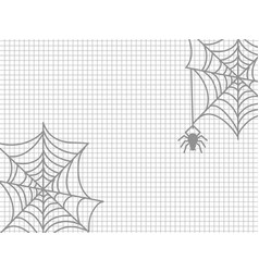 Spider and cobweb halloween vector