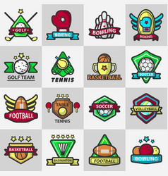 sport club or team badge icons vector image