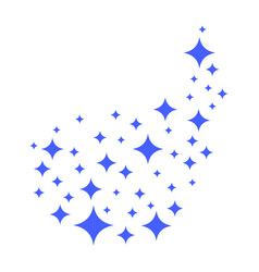 stars of brilliance and radiance of cleanliness vector image