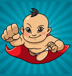 Super baby abstract background asian vector