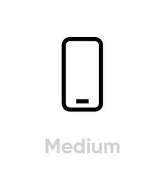 tech specs medium phone icon editable line vector image