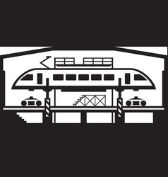 Trains repair workshop vector