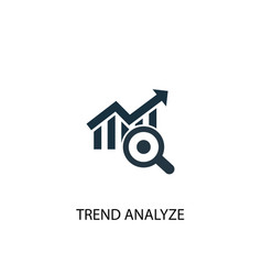 Trend analyze icon simple element vector