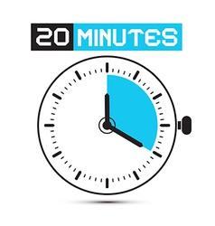 Twenty Minutes Stop Watch - Clock vector
