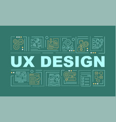 ux design word concepts banner vector image