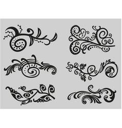 Vintage floral elements for design vector
