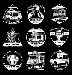 Vintage sweet products labels set vector