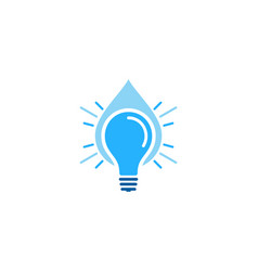 water idea logo icon design vector image