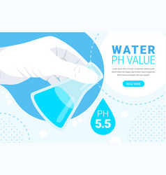 Water ph value concept vector