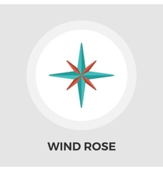 Wind rose flat icon vector image