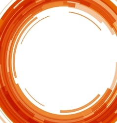 Abstract orange technology circles background vector image vector image