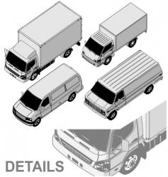 delivery van set vector image vector image