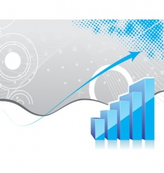 graph showing rise in profits vector image