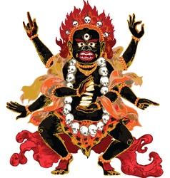 Mahacala red vector image