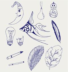 Set of Hand-Drawn Design Elements vector image