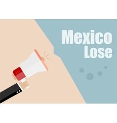 Mexico lose Flat design business vector image vector image