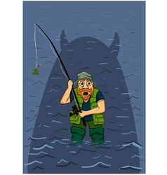 unsuccessful fishing vector image
