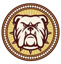 angry Bulldog head symbol vector image vector image