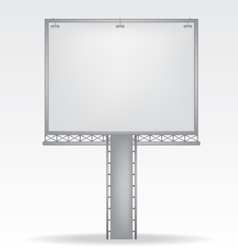 billboard on white background vector image