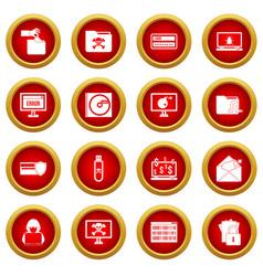 criminal activity icon red circle set vector image vector image