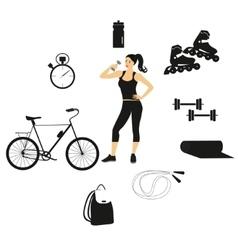 fitness women set vector image vector image