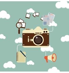journalist photographs vector image vector image