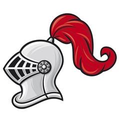 medieval knight helmet vector image vector image