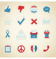 political icons vector image vector image