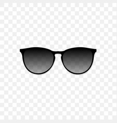 realistic sunglasses with a translucent black vector image vector image