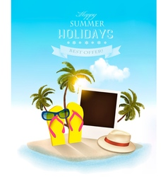 Summer holidays background Vacation memories vector image vector image